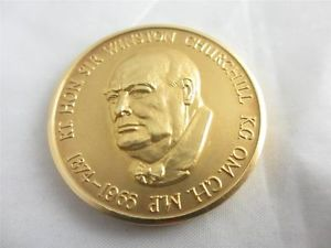 Chuchill made famous Never Surrende rspeech - here he is on a gold coin - see the link? you now know how my brain works